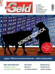 Lipper: Offene Investmentfonds - näher beleuchtet - Neitzel & Cie.