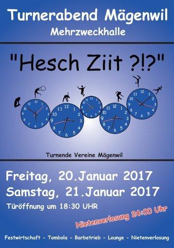 Programmheft Turnerabend 2017 Mägenwil