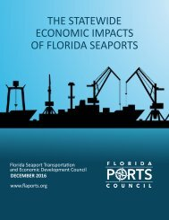 THE STATEWIDE ECONOMIC IMPACTS OF FLORIDA SEAPORTS