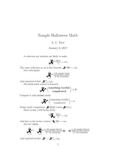 Sample Halloween Math