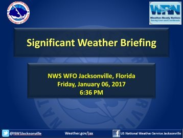 Significant Weather Briefing