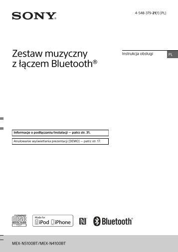 Sony MEX-N4100BT - MEX-N4100BT Istruzioni per l'uso Polacco