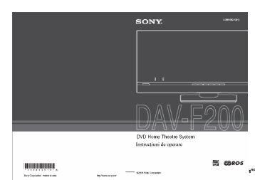 Sony DAV-F200 - DAV-F200 Istruzioni per l'uso Rumeno