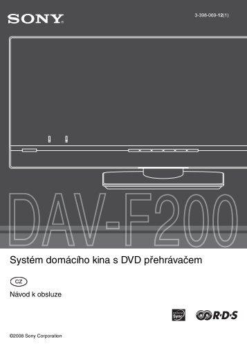 Sony DAV-F200 - DAV-F200 Istruzioni per l'uso Ceco