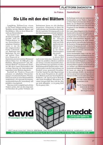 Die Lilie mit den drei Blättern Interventionelle ... - Trillium GmbH