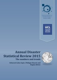 Annual Disaster Statistical Review 2015