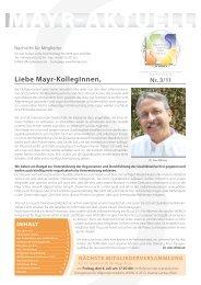 Liebe Mayr-KollegInnen - Internationale Gesellschaft der FX Mayr ...