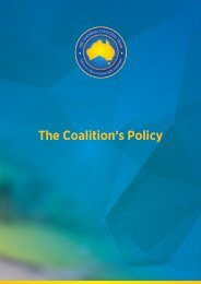 The Coalition's Policy