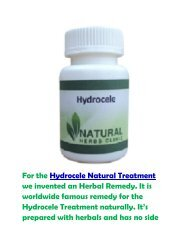 High Demanded Herbal Product for Hydrocele Natural Treatment