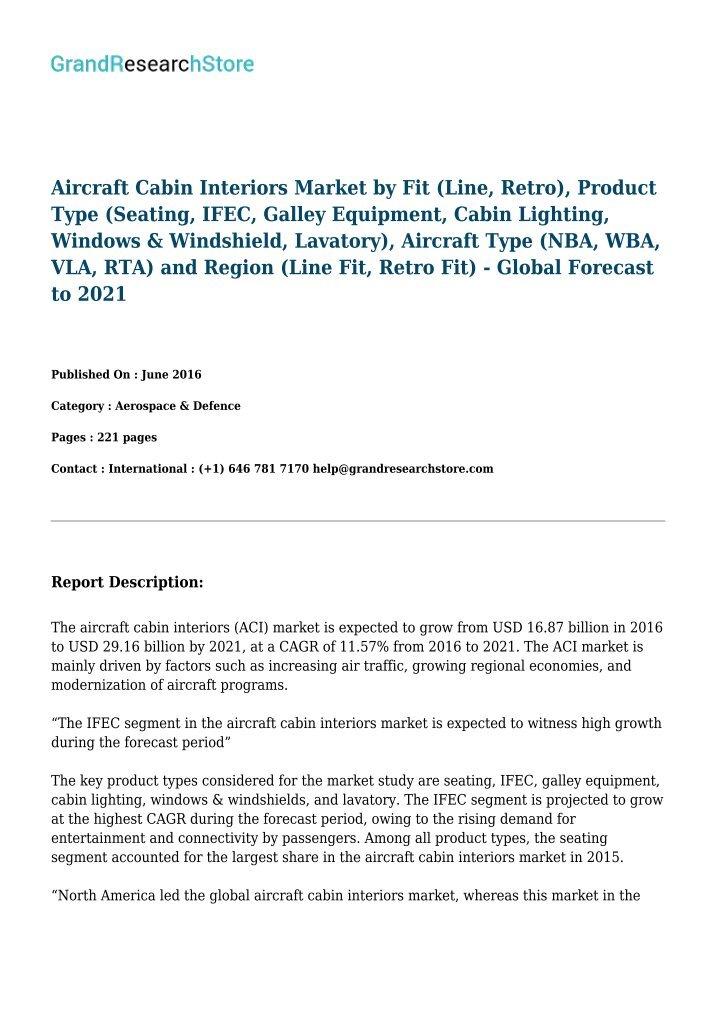 aircraft windows and windshields market forecast