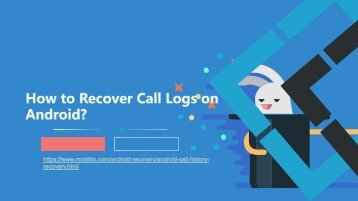 How to Recover Call Logs on Android?