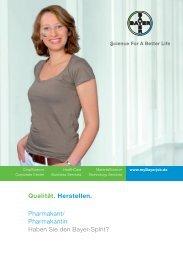 Pharmakant - Bayer AG - mybayerjob.de