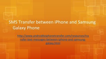 How to Transfer Text Messages between iPhone and Samsung Galaxy Phone
