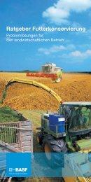 Ratgeber Futterkonservierung - Getreidekonservierung