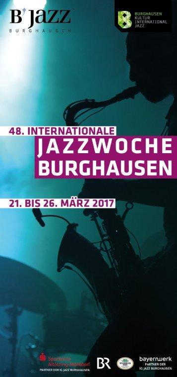 Flyer Jazzwoche Burghausen 2017