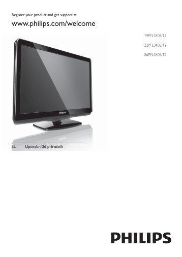 Philips Téléviseur LED - Mode d'emploi - SLV