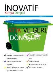 İnovatif Kimya Dergisi Sayı 5