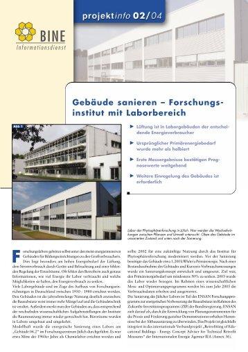 Gebäude sanieren - Energetische Sanierung der Bausubstanz ...