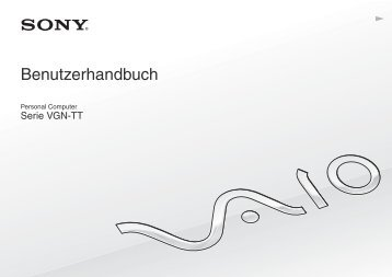 Sony VGN-TT46MRG - VGN-TT46MRG Istruzioni per l'uso Tedesco