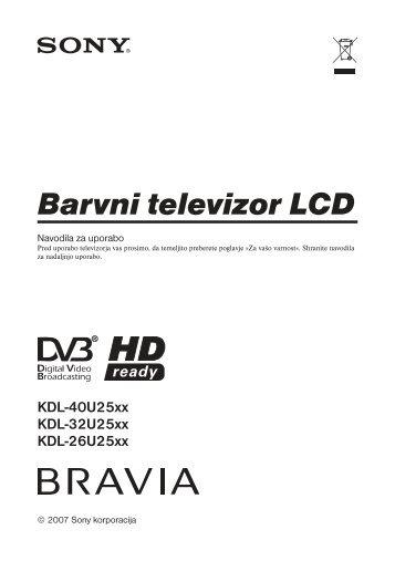 Sony KDL-26U2530 - KDL-26U2530 Istruzioni per l'uso Sloveno