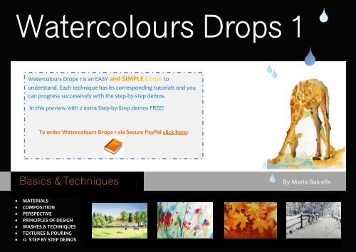 INTRO WATERCOLOURS DROPS 1 by Maria Balcells intro OLD