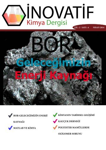 İnovatif Kimya Dergisi Sayı 9