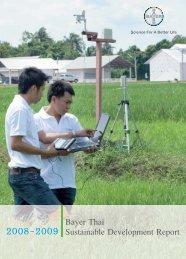 Bayer Thai Sustainable Development Report 2008-2009