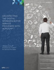 ARCHITECTING THE DIGITAL WORKSPACE FOR SERVICE PROVIDERS WITH HORIZON 7
