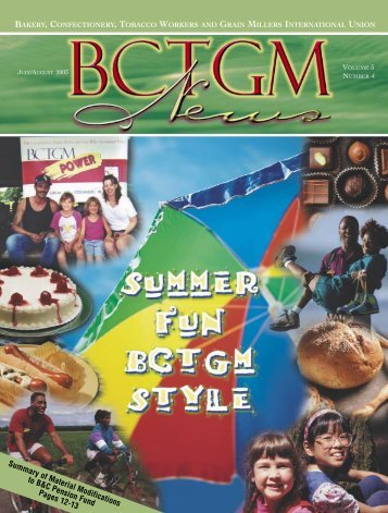 BCTGM News Jul/Aug - The Bakery, Confectionery, Tobacco ...
