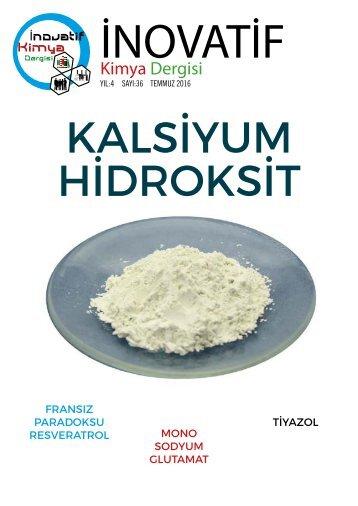 İnovatif Kimya Dergisi Sayı 36