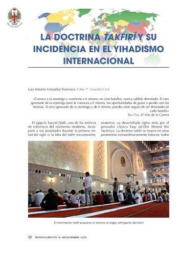 LA DOCTRINA TAKFIRÍ Y SU INCIDENCIA EN EL YIHADISMO INTERNACIONAL