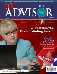 Jan / Feb 2012 edition of the NST Advisor - AFGE