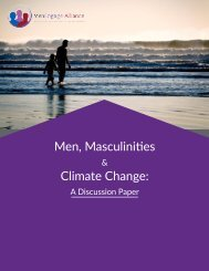 Men Masculinities Climate Change