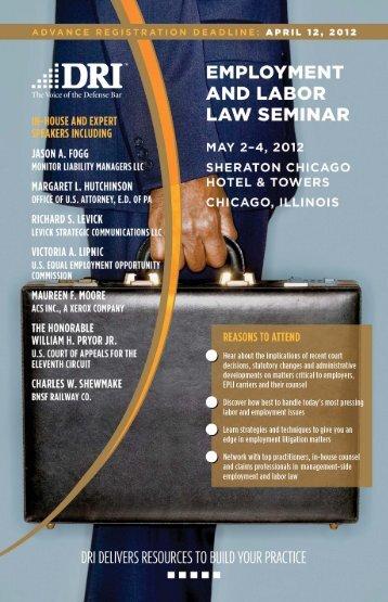 Employment and Labor Law Seminar - DRI