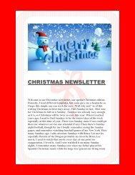 CHRISTMAS NEWSLETTER December 2016