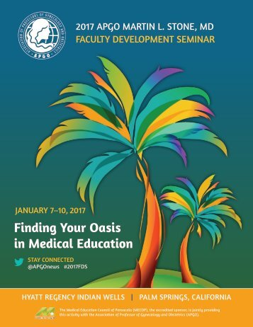 Finding Your Oasis in Medical Education