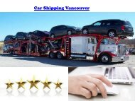 Car Shipping Vancouver