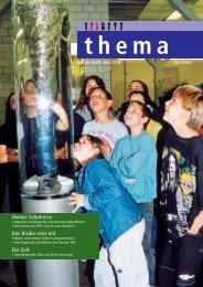 thema: Schulreise Das Risiko reist mit Zur Zeit - beim LCH
