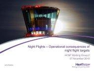Night Flights – Operational consequences of night flight targets