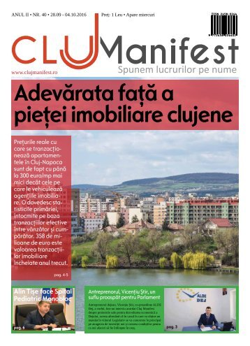 ClujManifest 2016 - Editie Tiparita - An 2 - Nr.40 - 28 Septembrie - 4 Octombrie 2016
