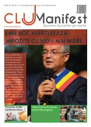 ClujManifest 2016 - Editie Tiparita - An 2 - Nr.42 - 12 Octombrie - 18 Octombrie 2016