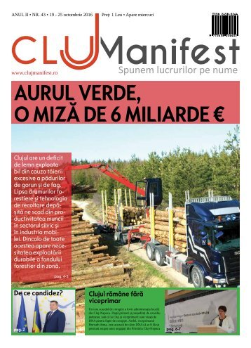 ClujManifest 2016 - Editie Tiparita - An 2 - Nr.43 - 19 Octombrie - 25 Octombrie 2016