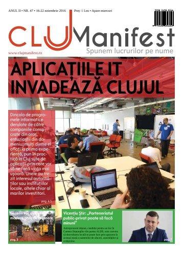 ClujManifest 2016 - Editie Tiparita - An 2 - Nr.47 - 16 Noiembrie  - 22 Noiembrie 2016