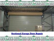 Sectional Garage Door Repairs