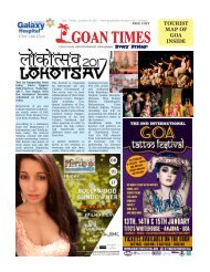 GoanTimes January 6th 2017 Edition
