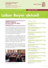 Labor Bayer aktuell