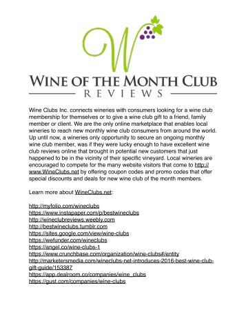 Wine Club Reviews
