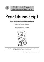 Anorganisch chemisches Grundpraktikum - Technische Biologie ...