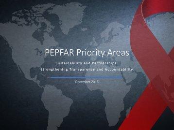 PEPFAR Priority Areas