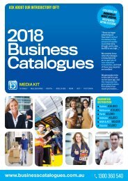 2018 Business Catalogues Media Kit